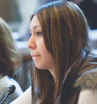 Dana Jetty of the Dakota Nation testifies during a Congressional Hearing. (Senate Indian Affairs Committee photo)