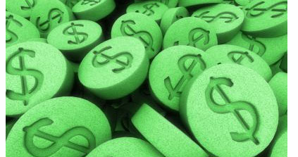 Pills with Dollar Signs