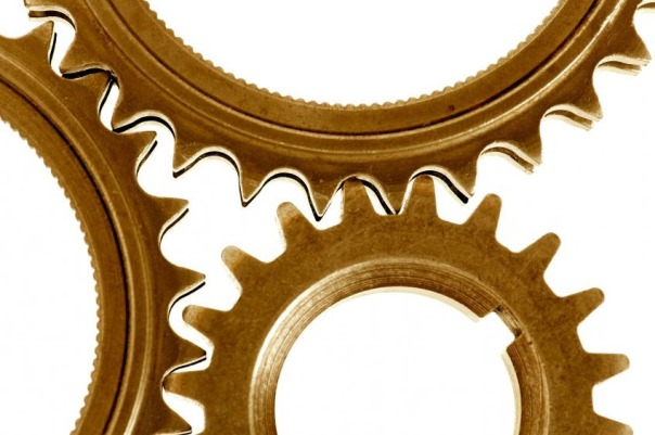 Three gears working together